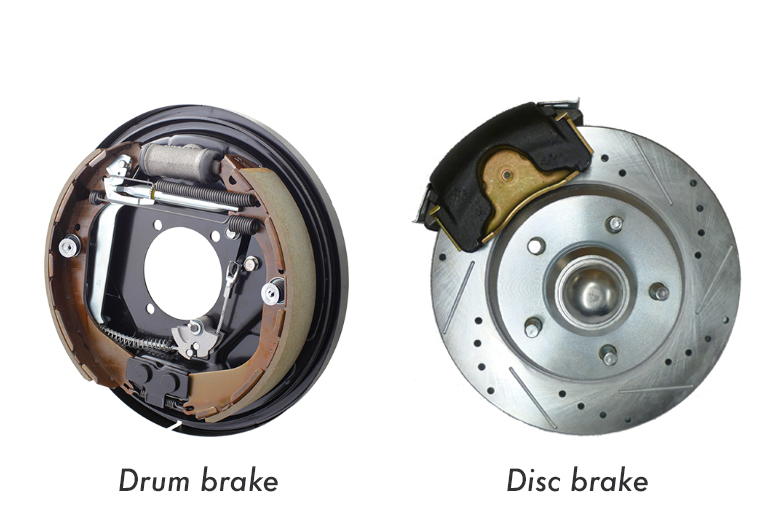 Drum brake vs disc brake