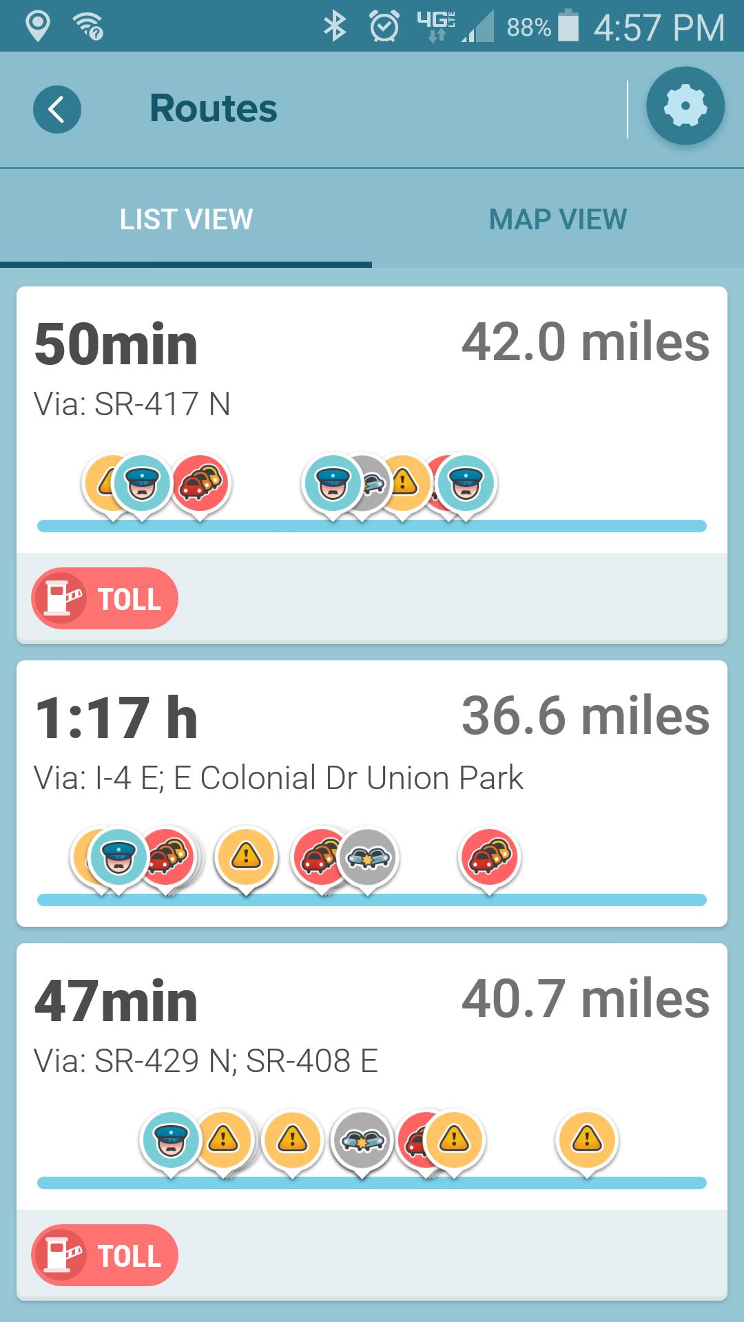 Waze problem: Longer route than normal
