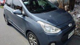 Blue Hyundai Grand I10 2014 Automatic Gasoline for sale in Quezon City