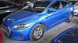 Blue Hyundai Elantra 2017 Manual Gasoline for sale in Makati