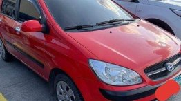 Selling Red Hyundai Getz 2009 Manual Gasoline at 77000 km
