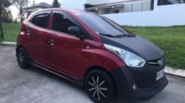 Red Hyundai Eon 2013 Manual Gasoline for sale in Las Piñas