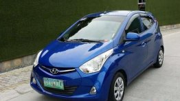 Blue Hyundai Eon 2012 for sale in Manila