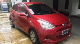 Red Hyundai Grand i10 2015 at 22000 km for sale