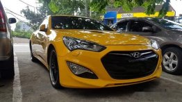 Yellow Hyundai Genesis 2013 Coupe Automatic Gasoline for sale