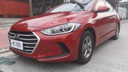 Red Hyundai Elantra 2017 for sale in Quezon City