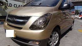 Gold Hyundai Grand starex 2010 for sale in Quezon City
