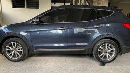 Blue Hyundai Santa Fe 2014 for sale in Manila