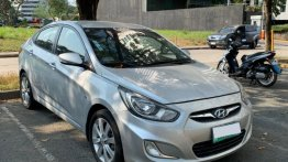 Silver Hyundai Accent 2011 for sale in Automatic