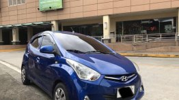Blue Hyundai Eon 2014 for sale in Manila