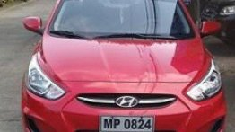 Red Hyundai Accent 2016 for sale in Manila