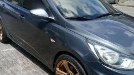 Grey Hyundai Accent 2013 for sale in Manual