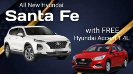 White Hyundai Santa Fe for sale in Makita city