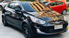 Sell Black 2014 Hyundai Accent in Quezon City