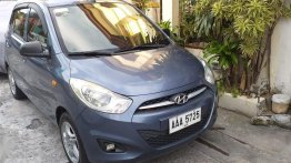 Grey Hyundai I10 2014 for sale in Cavite