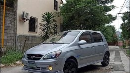 Grey Hyundai Getz 2006 Hatchback for sale in Manila