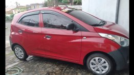 Red Hyundai Eon 2015 Hatchback at 48349 km for sale in San Pedro