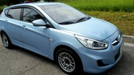 Blue Hyundai Accent 2014 for sale in Quezon City