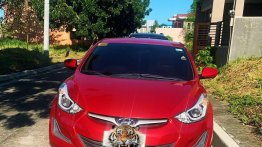 Red Hyundai Elantra 2015 for sale in Cavite