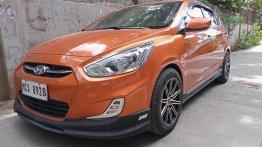Orange Hyundai Accent 2016