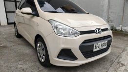 Sell Pearl White 2014 Hyundai Grand i10 in Quezon City
