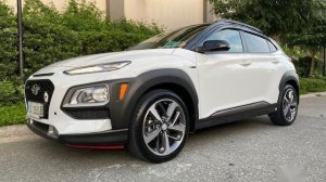 White Hyundai Kona 2019 for sale in Quezon City
