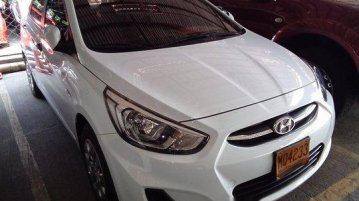 White Hyundai Accent 2016 Manual Gasoline for sale in Marikina