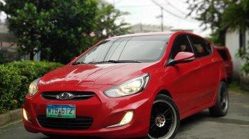 Sell Red 2013 Hyundai Accent Sedan in Manila