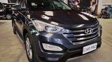 Selling Blue Hyundai Santa Fe 2015 in San Fernando