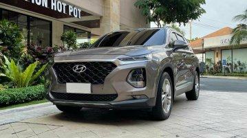 Grey Hyundai Santa Fe 2019 for sale in Automatic