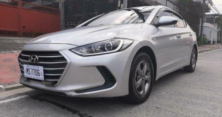 Silver Hyundai Elantra 2017 for sale in Quezon City