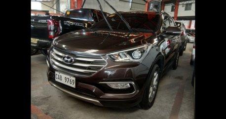 Brown Hyundai Santa Fe 2016 SUV for sale in Quezon City